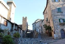 Bolsena: a középkori felsőváros – részlet