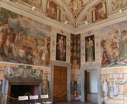 Caprarola – a Farnese-kastély egyik díszterme