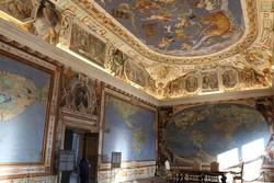 Caprarola – a térképszoba a Farnese-kastélyban