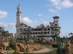 a Montazah Palota díszes épülete Alexandriában