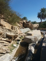 hagyományos öntözőrendszer Birkat al Mauzban
