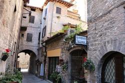 középkori utcarészlet Gubbióban