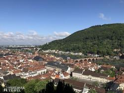 Heidelberg látképe a várból