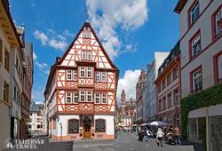 favázas ház Mainzban