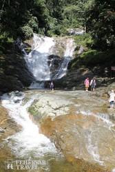 a Lata Iskandar vízesés Malajziában