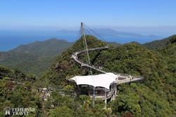Langkawi szigete: acélhíd a Mat Cincang hegyen