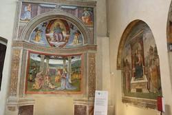 Montefalco – gyönyörű freskók a Szent Ferenc-templomban