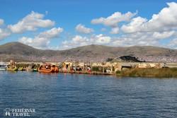 életkép a Titicaca-tónál