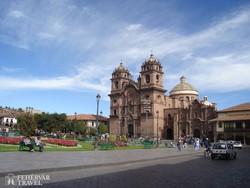 a jezsuita templom Cuzco főterén