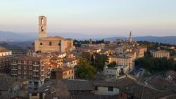 Perugia – pillantás az óváros délkeleti részére