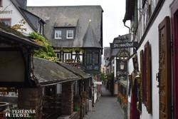 a Drosselgasse sétálóutca Rüdesheimban