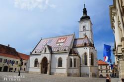 Zágráb – a Szent Márk-templom