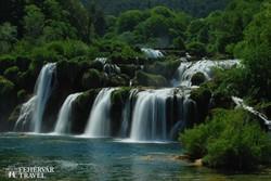 káprázatos vízesések a Krka Nemzeti Parkban