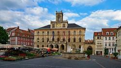 a városháza épülete Weimarban