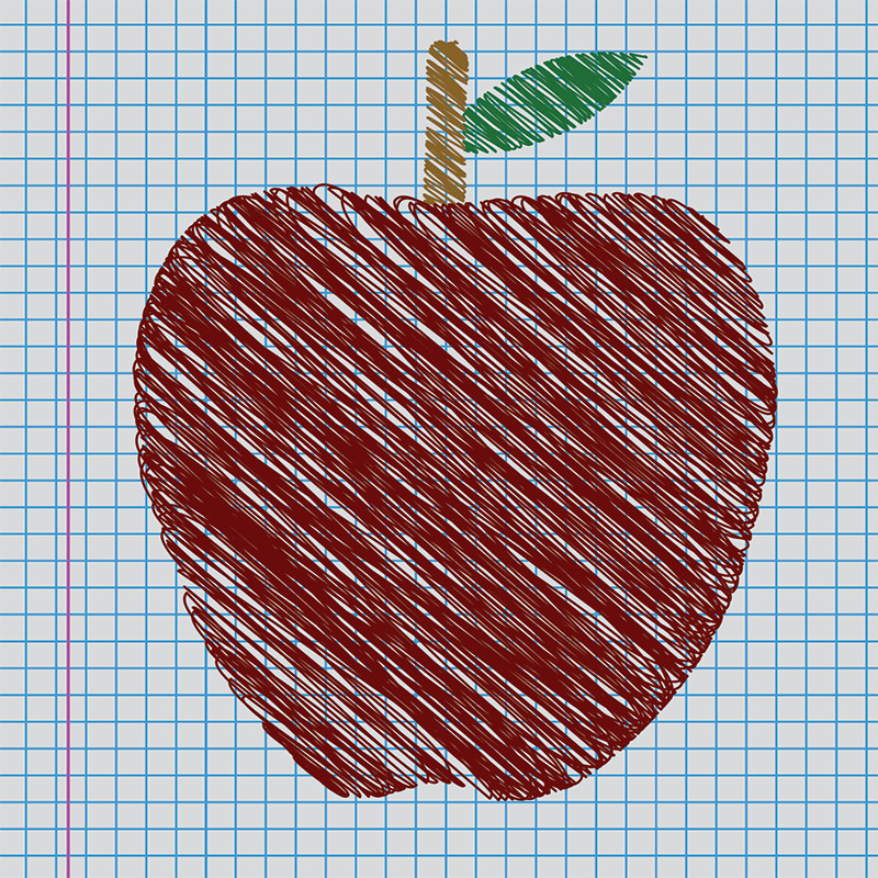 Red School Apple