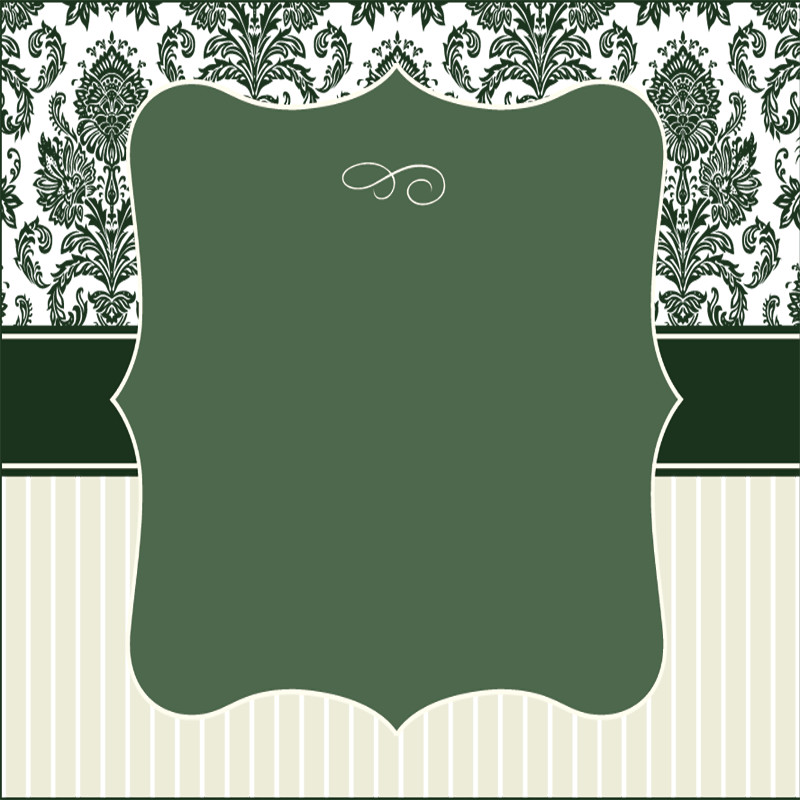 Damask Frame Set