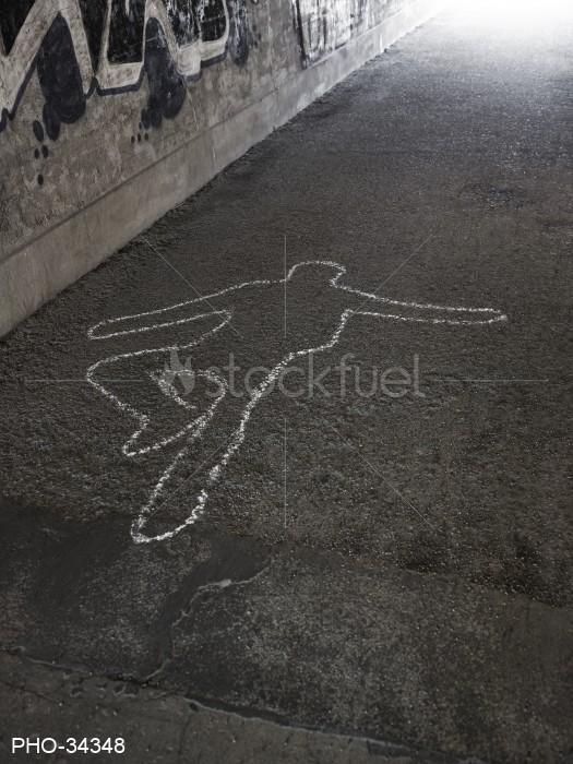 Dead Body Chalk Outline
