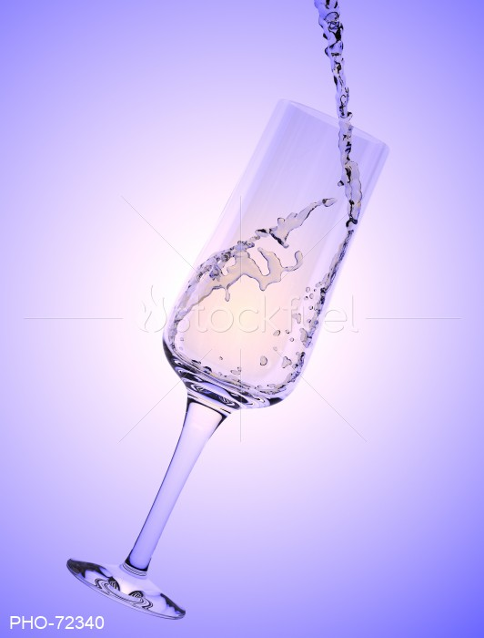 White Wine Glass Pour