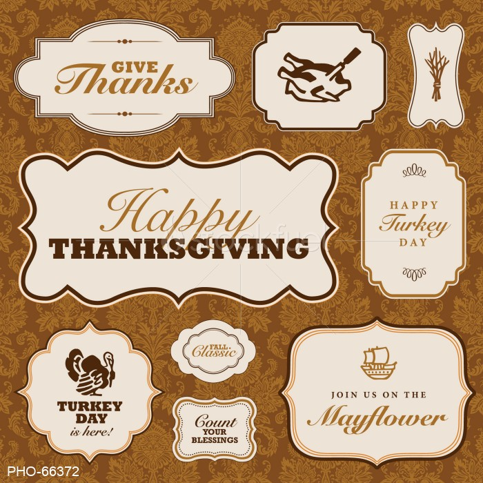 Vector Thanksgiving Frame Set