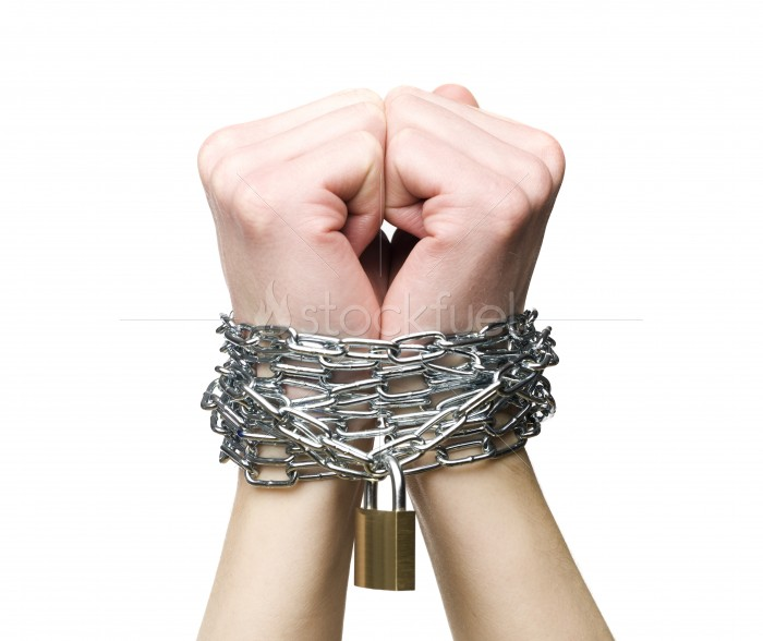Chained Hands Isolated