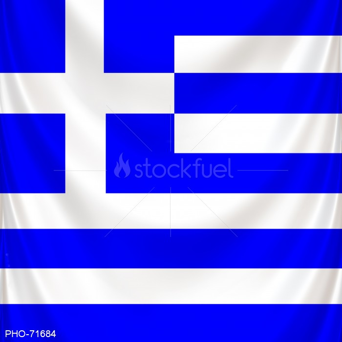 Flag of Greece Square and Draped