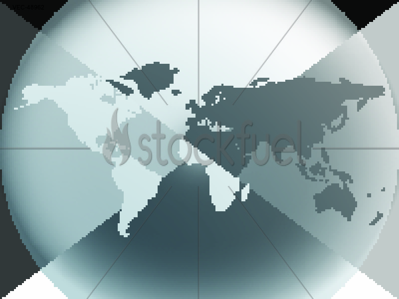 Earth Globes Graphic Halo