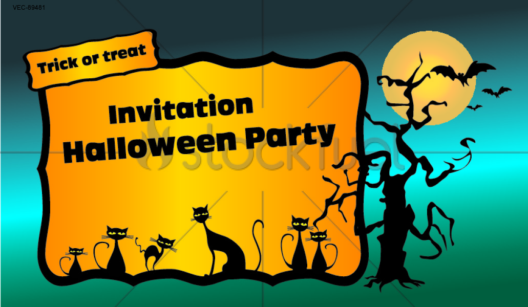 Halloween party invitation trick or trea Holidays