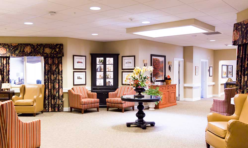 A common area at Juniper Glen Alzheimer's Special Care Center