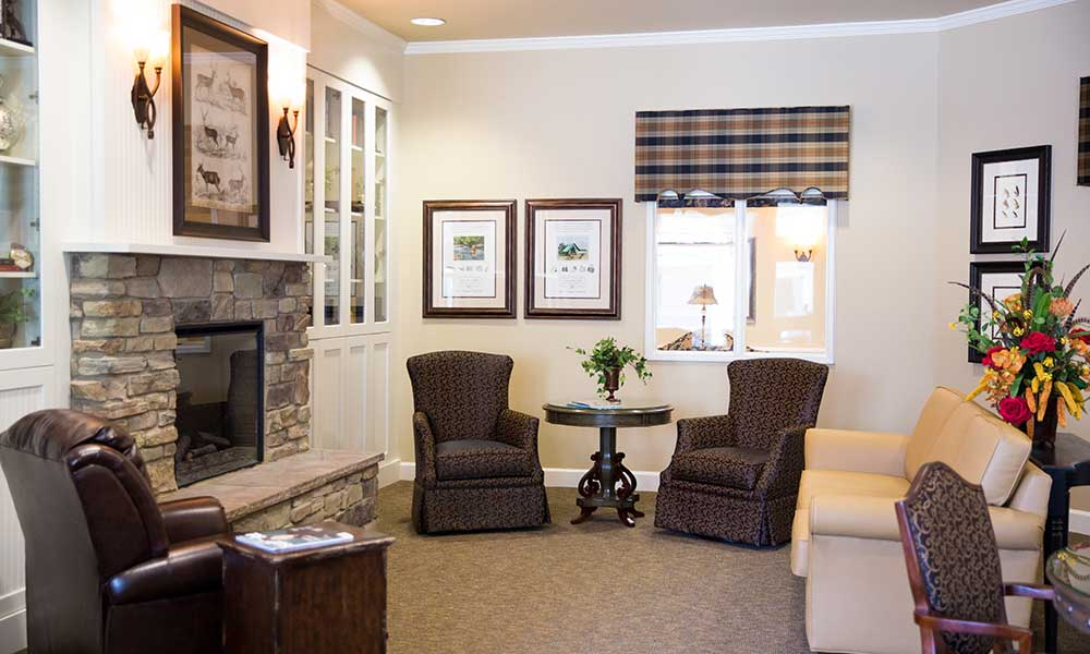 A quiet nook for anyone to enjoy at Juniper Glen Alzheimer's Special Care Center