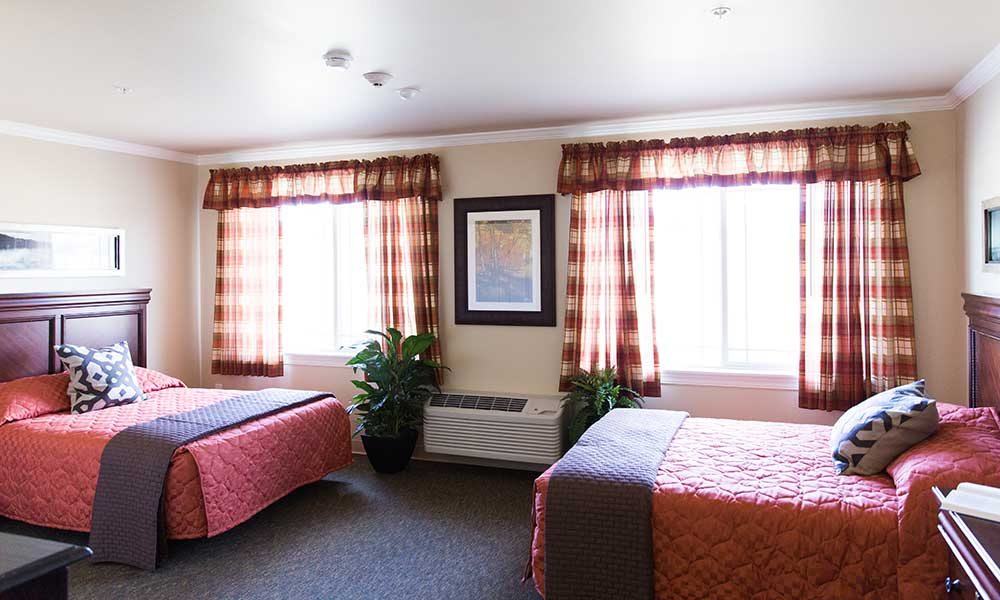 A room at Juniper Glen Alzheimer's Special Care Center perfect for anyone needing a roommate.