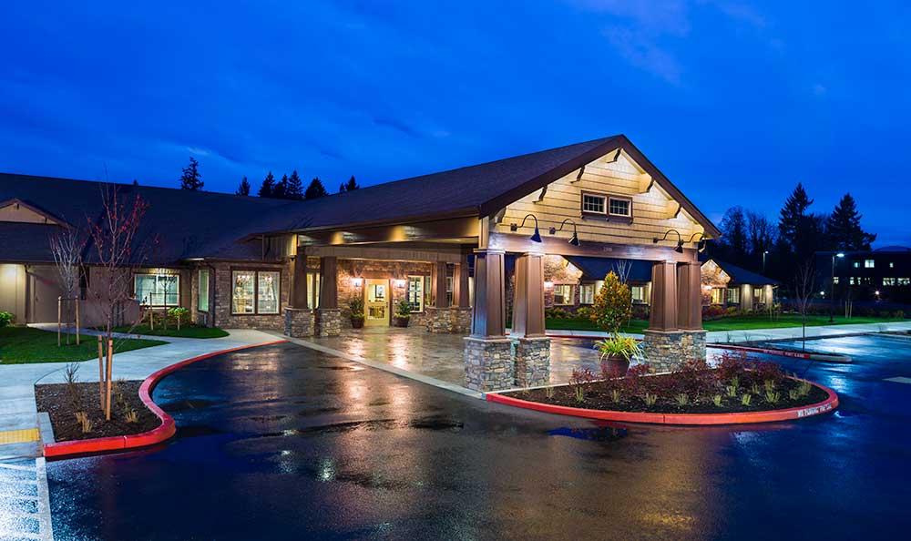 The senior living facility in Colorado Springs, CO, exterior view.