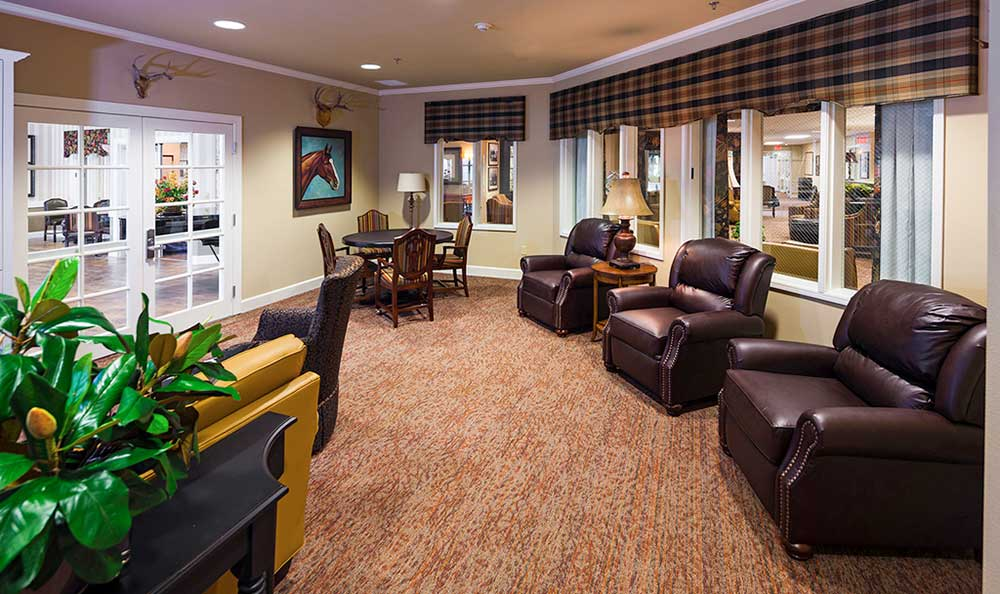 The senior living facility in Colorado Springs, CO, resident meeting area.