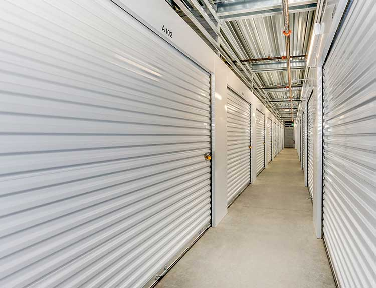 Variety of storage units at  Happy Boxes Self Storage in Richmond, Virginia