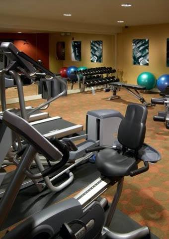 Fitness center at apartments in Englewood, CO
