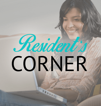 Resident's corner for residents of our apartments in Owasso, Oklahoma