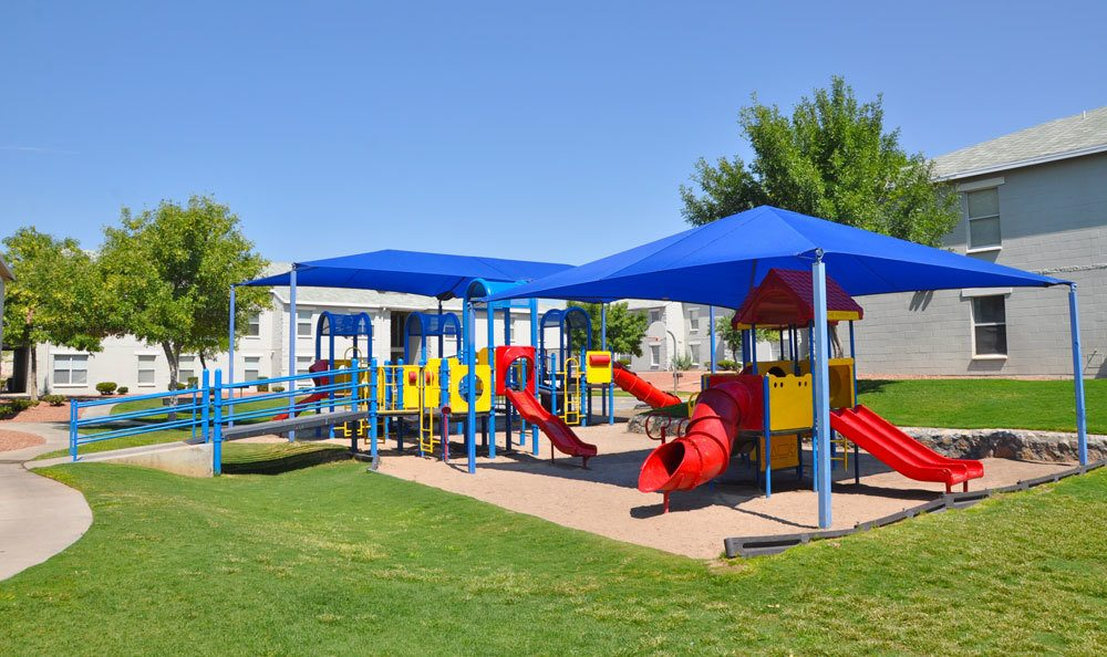 Playground amenities at our apartments in El Paso