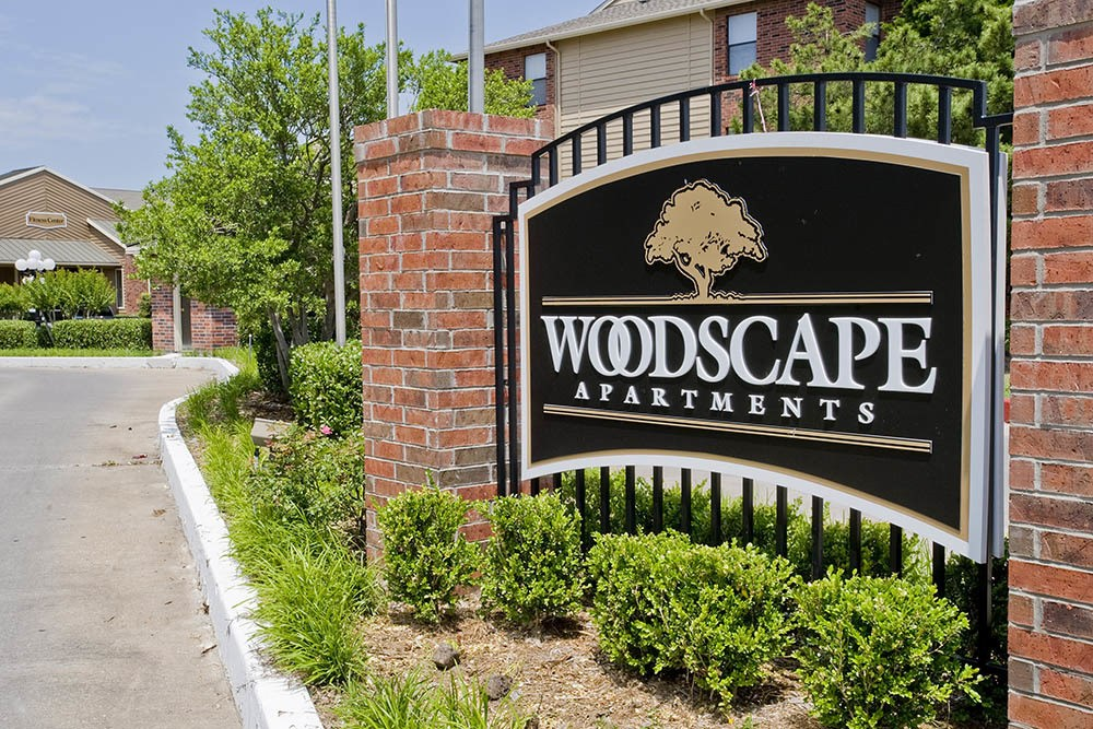 Signage at Woodscape Apartments