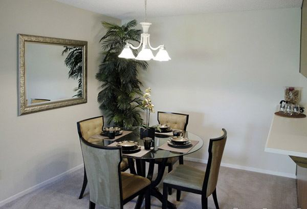 Dining area within the complex in Reno, Nevada