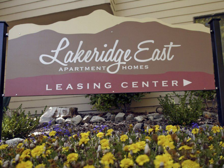 Our sign as you enter the community at Lakeridge East Apartments