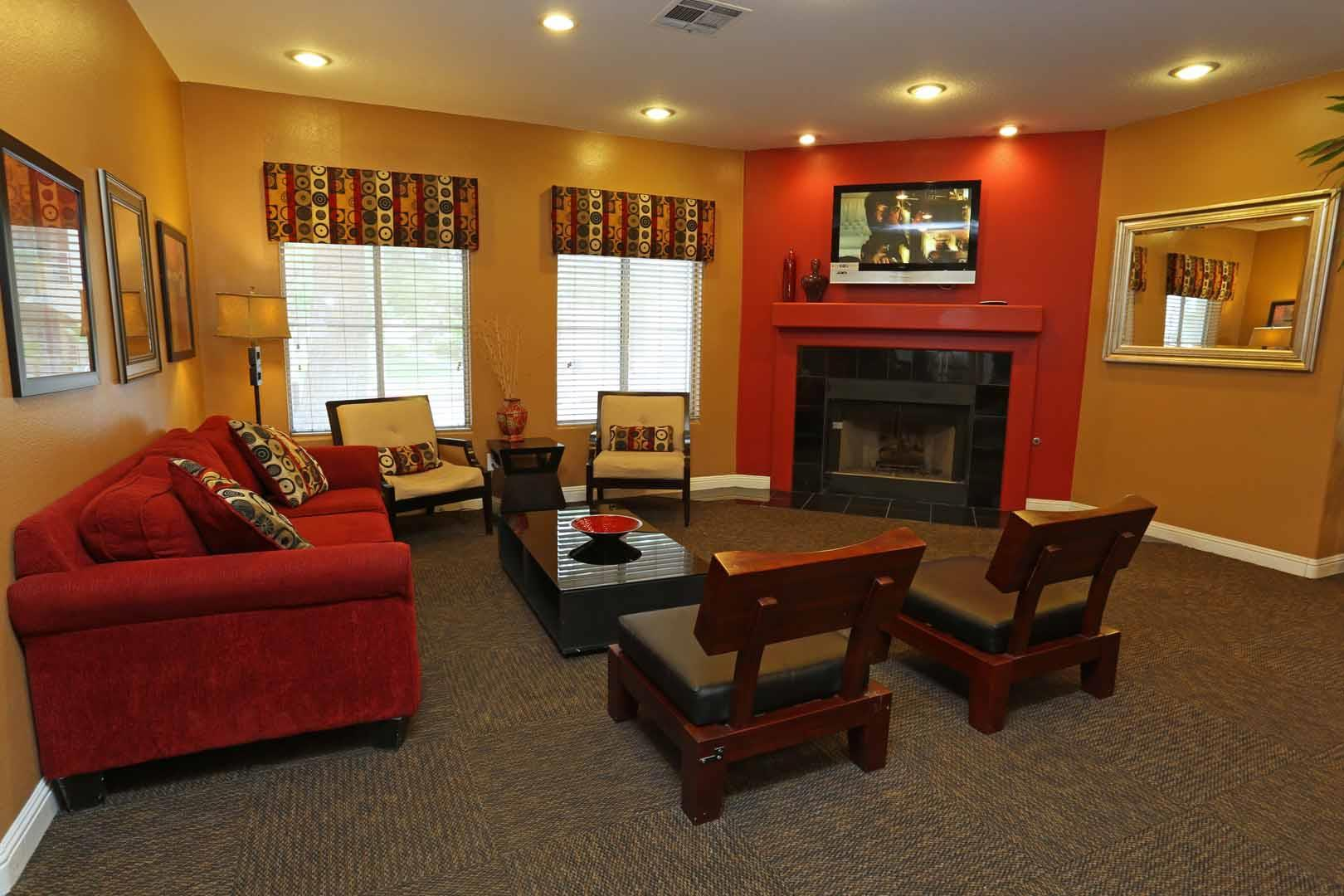 The resident living room inside our Las Vegas apartments