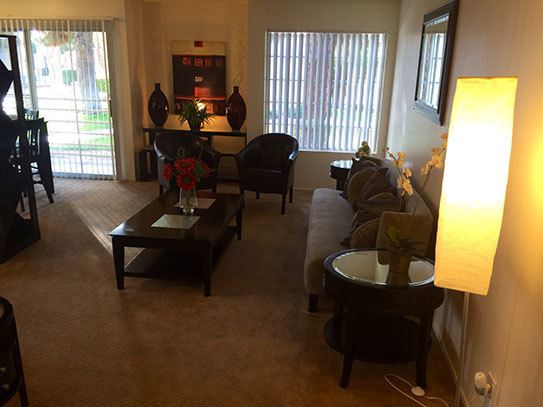 Living room in our apartments in Las Vegas NV