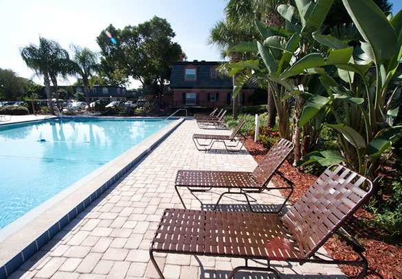 The swimming pool at our Winter Park apartments