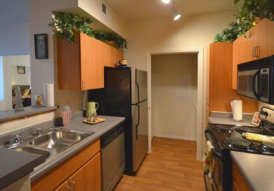 A view of the kitchen inside our Phoenix apartments