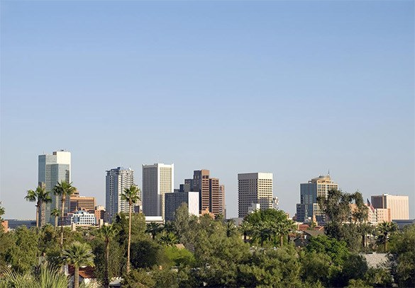 Skyline view of Pheonix