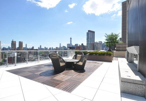 Rooftop seating at The Corner in New York's Upper West Side