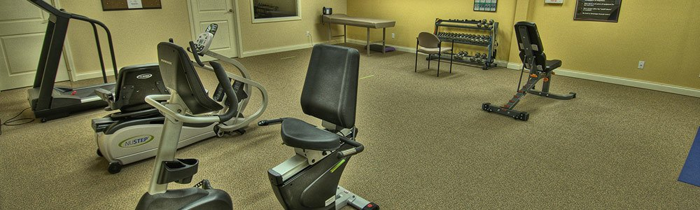 The fitness center at our senior living community in Bothell, WA
