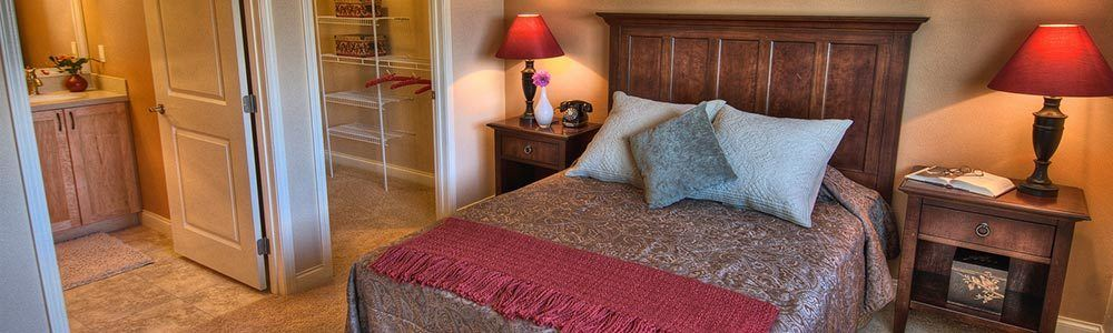Bedroom interior at one of our senior living properties