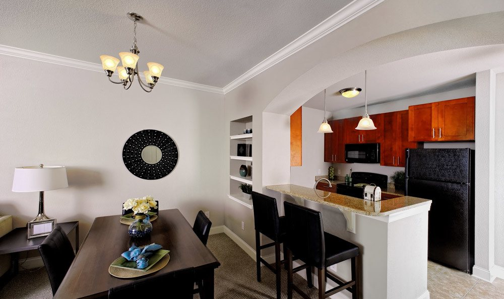 Dining Room Table And Kitchen Apartment