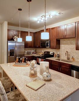 Beautiful kitchens come complete with granite countertops