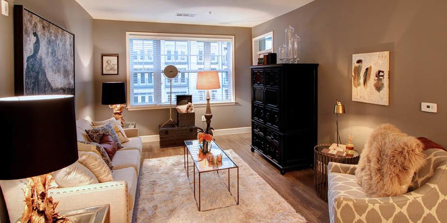 Beautiful interior at our luxury apartments